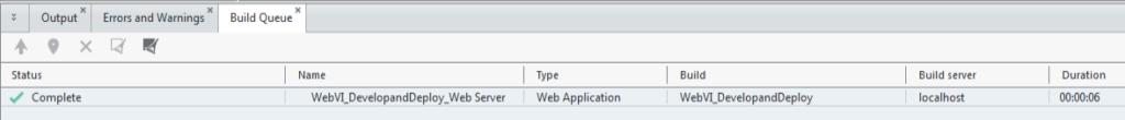 Displaying NXG System Designer Build Status
