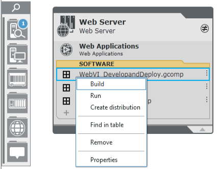 Build the Web page using NXG System Designer